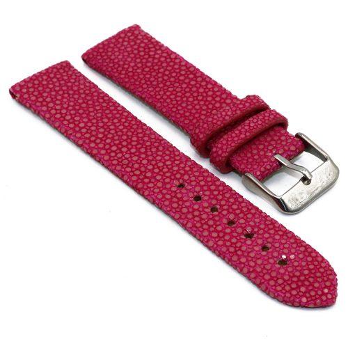 bracelet montre galuchat fushia 1 1