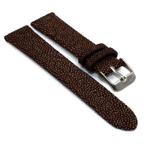 bracelet montre galuchat marron 1 1