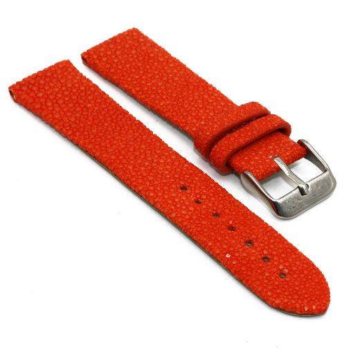 bracelet montre galuchat orange 1 1