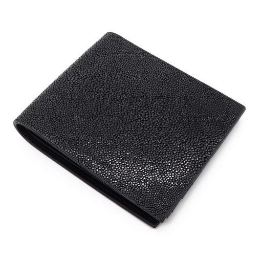 portefeuille galuchat signature mdg noir 2020 3