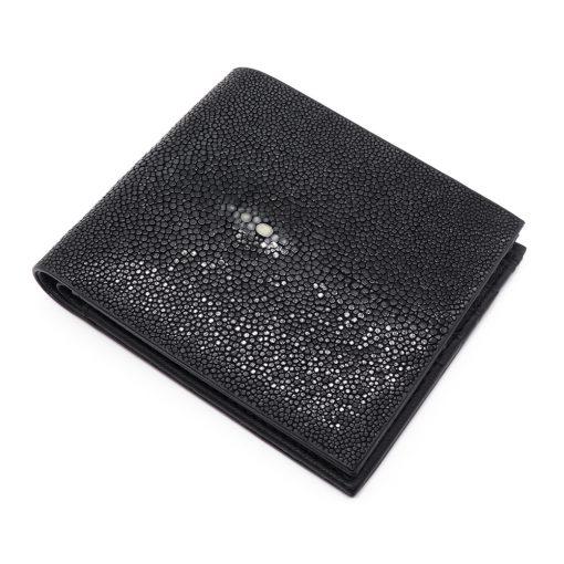 portefeuille galuchat signature mdg noir 2020