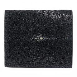 portefeuille galuchat signature mdg noir 2021 1