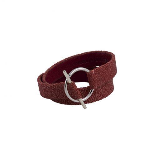 bracelet double tour galuchat 1