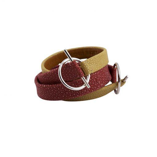 bracelet double tour galuchat 2