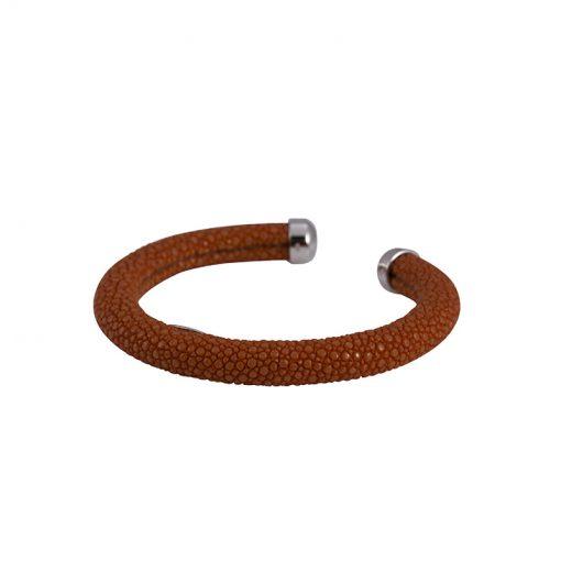 bracelet galuchat jonc rigide 6mm 8mm 10mm