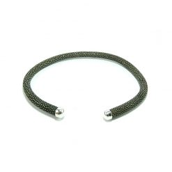 collier galuchat rigide 6mm 8mm 10mm