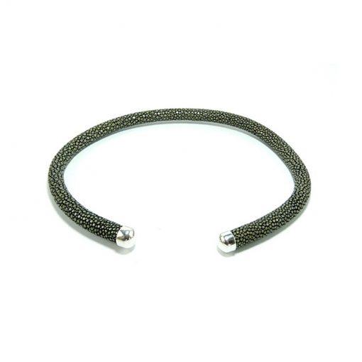 collier galuchat rigide 6mm 8mm 10mm