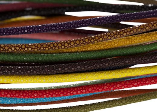 collier jonc galuchat souple couleurs