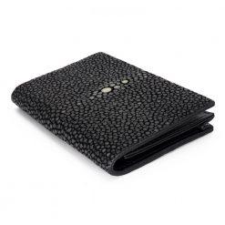 porte carte galuchat couleur noir aknas madoux 2