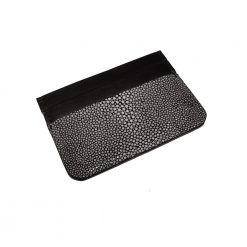 porte-carte-galuchat-noir