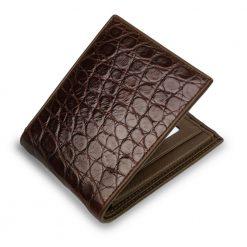 premium portefeuille crocodile marron 2