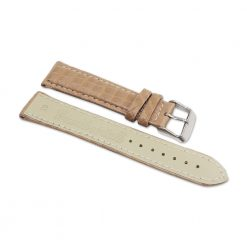 bracelet montre crocodile alligator blanc creme 2
