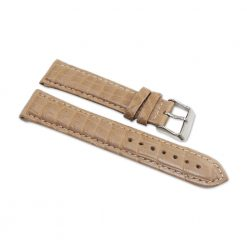 bracelet montre crocodile alligator blanc creme