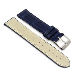 bracelet montre crocodile alligator bleu cobalt 2