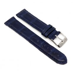 bracelet montre crocodile alligator bleu cobalt