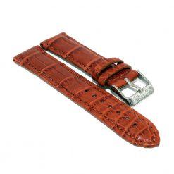 bracelet montre crocodile alligator brun acajou 1