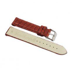 bracelet montre crocodile alligator marron acajou 2
