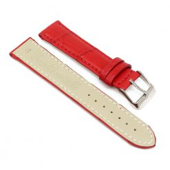 bracelet montre crocodile alligator rouge 2