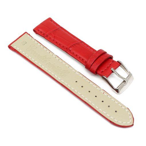 bracelet montre crocodile alligator rouge 2