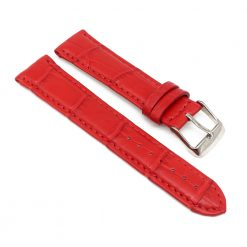 bracelet montre crocodile alligator rouge