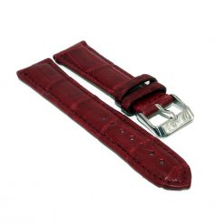 bracelet montre crocodile alligator rouge vin 1