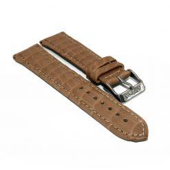bracelet montre crocodile alligator cannelle