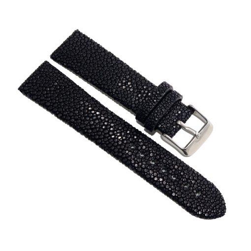 bracelet montre galuchat noir