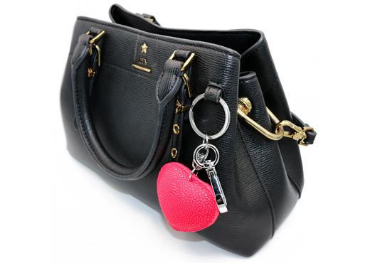 bijoux de sac galuchat couleur rose