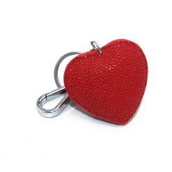bijoux de sac galuchat couleur rouge