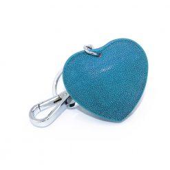 bijoux de sac galuchat couleur turquoise