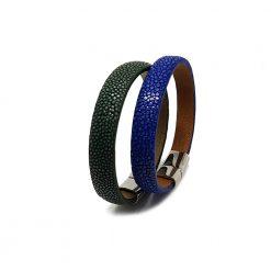 bracelet bande galuchat 10mm