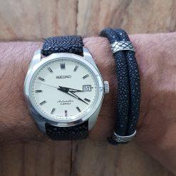 bracelet galuchat mdg montre