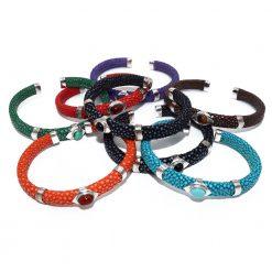 bracelet galuchat pierres 1