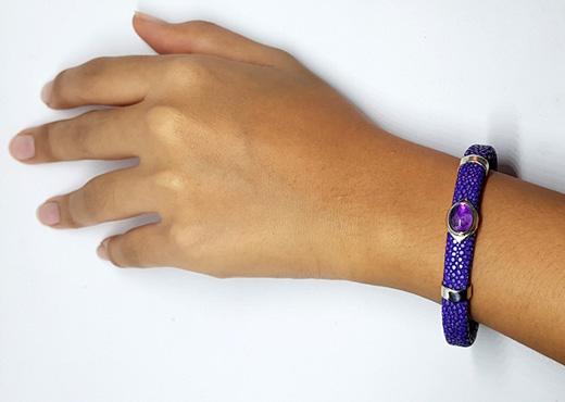 bracelet galuchat pierres 3