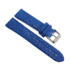 bracelet montre galuchat bleu