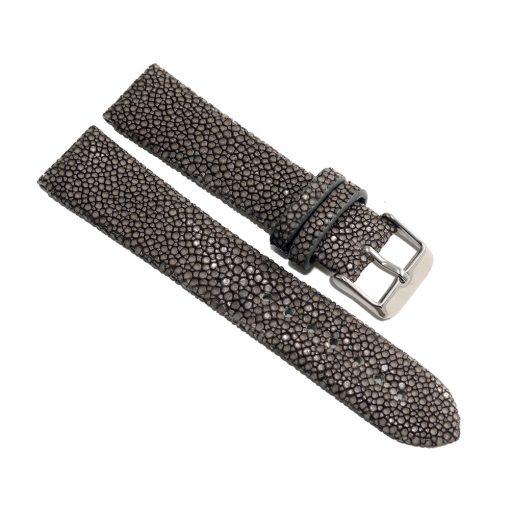 bracelet montre galuchat gris