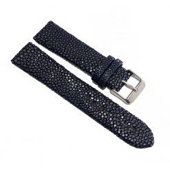 bracelet montre galuchat navy