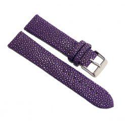 bracelet montre galuchat violet lavande