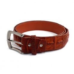 ceinture crocodile marron b 1
