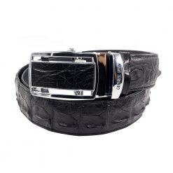 ceinture crocodile noir 1