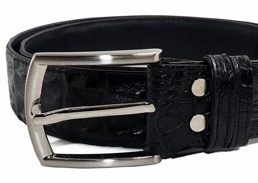 ceinture crocodile noir boucle ardillon focus2