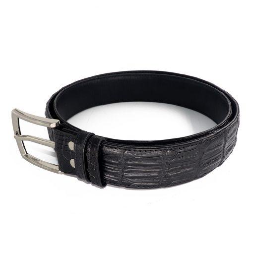 ceinture crocodile noir d