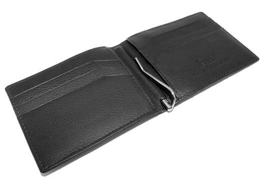 portefeuille clip crocodile couleur noir