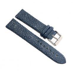bracelet montre galuchat lapis