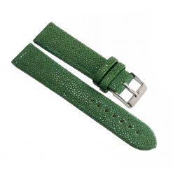 bracelet montre galuchat vert sapin