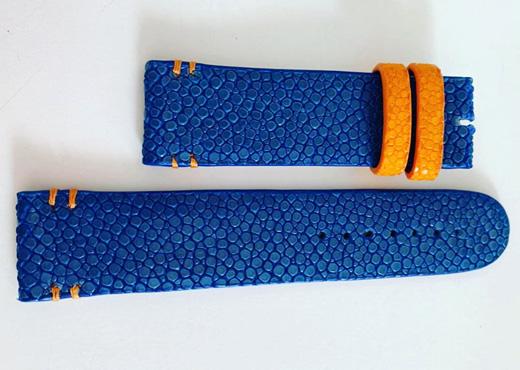 bracelet cuir galuchat realise sur mesure