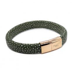 bracelet galuchat integral 12mm olive