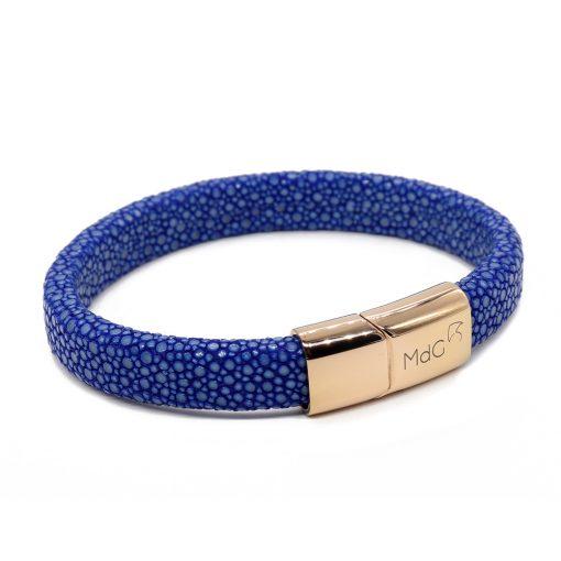 bracelet galuchat integral 12mm saphir
