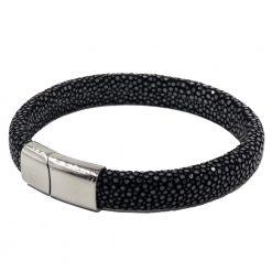 bracelet galuchat intergral 12mm noir