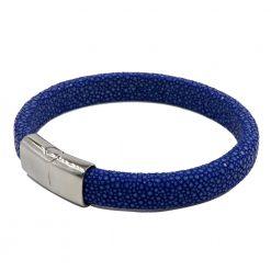 bracelet galuchat intergral 12mm saphir